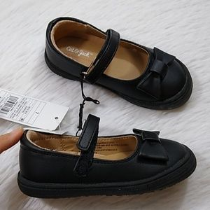 Cat & Jack Girls Sz 7 Black Dress Shoes